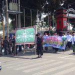 Suka Cita Ribuan Santri Ikuti Kirab HSN 2019 di Kota Blitar