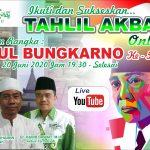 Haul Bung Karno Ke 50, PCNU Kota Blitar Gelar Tahlil Akbar Live Youtube